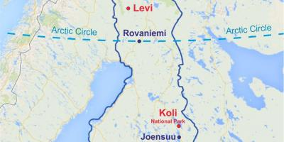 Karta Finskoj Kartice Finskoj Sjeverna Europa Europa